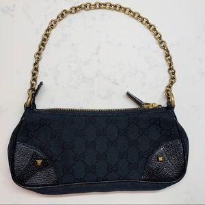 Gucci Black Canvas Monogram Bag